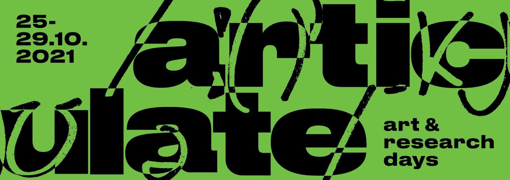 Articulate art & research days